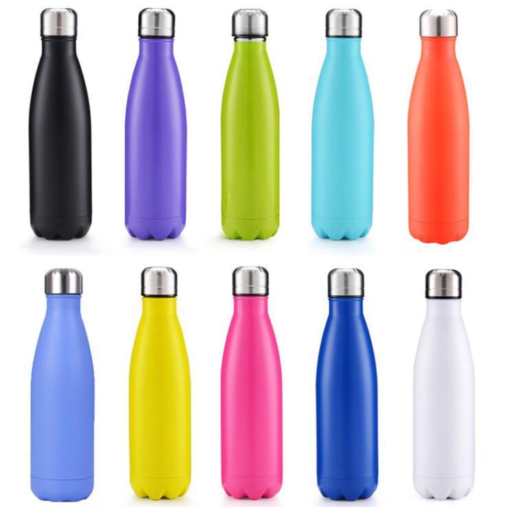 500 ml Cola-Form-Wasser-Flaschen-Vakuum Cup Coke Bottle Insulated Doppelschalig Edelstahl-Wasser-Versand freies schnelles Meer Flasche FWC2985