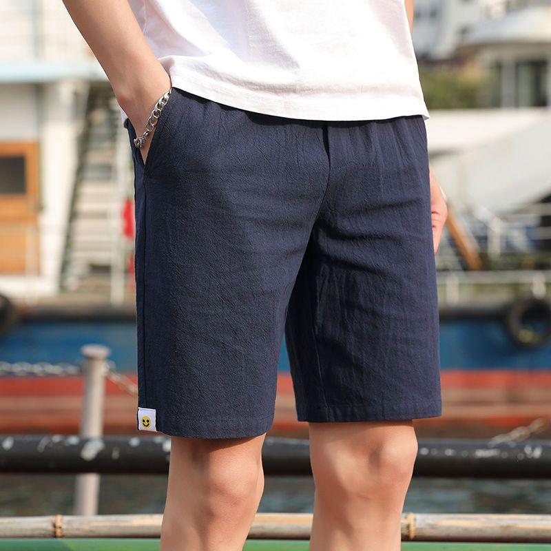 Shorts Tendencia de los hombres Verano Capris suelta casual delgado coreano pantalones chinos pantalones de playa pantalones de hombre pantalones grandes calzoncillos