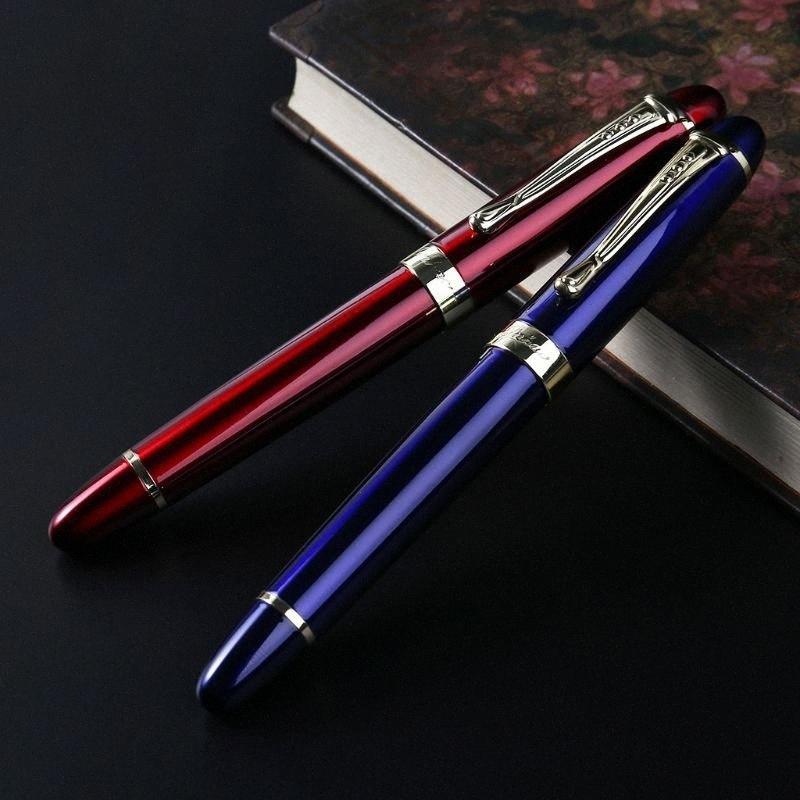 Jinhao x450 мужские Fountain Pen Бизнес Студенческая 0.5mm Extra Fine Nib Прозрачный Каллиграфия канцелярских товаров Пишущие инструменты uTwd #