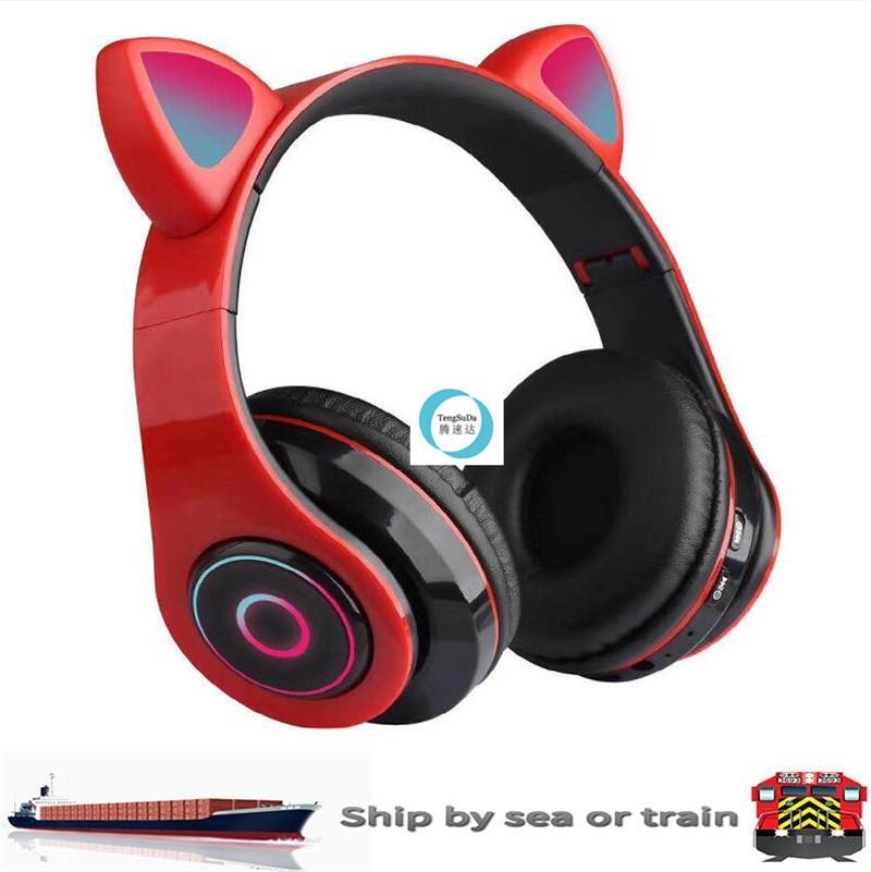 Светодиодные наушники для уха Cat Bluetooth 5.0.