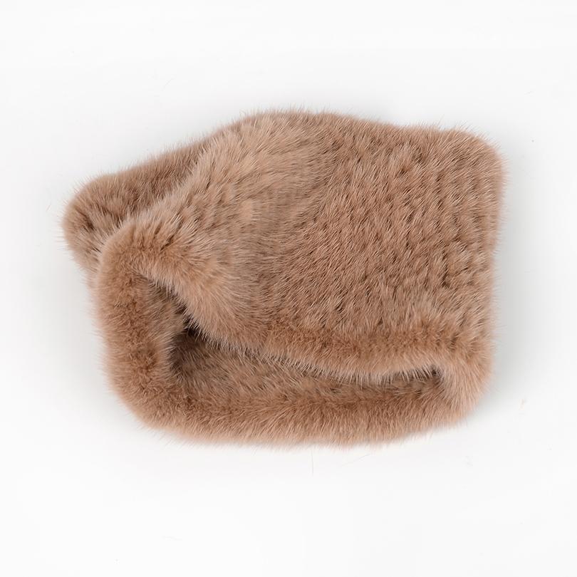 зима Кольцо Вязаные шарфы женщин 100% натуральная Мех шарфы обертывания женские шарфы женские норковые меховые платки для женщин Обертывания леди 201019