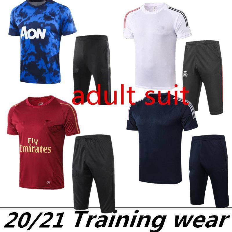 2020 ASEN Adam Unitl Madrid Arjantin Futbol Survetement Kısa Kollu 3/4 Pantolon Eşofman Eğitim Futbol Gömlek Kiti Chandal Set