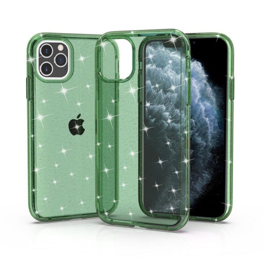 Bling Trasparente Slim TPU PC Custodie per cellulare antiurto per iPhone 11 12 Pro Max XR x 7 8Plus