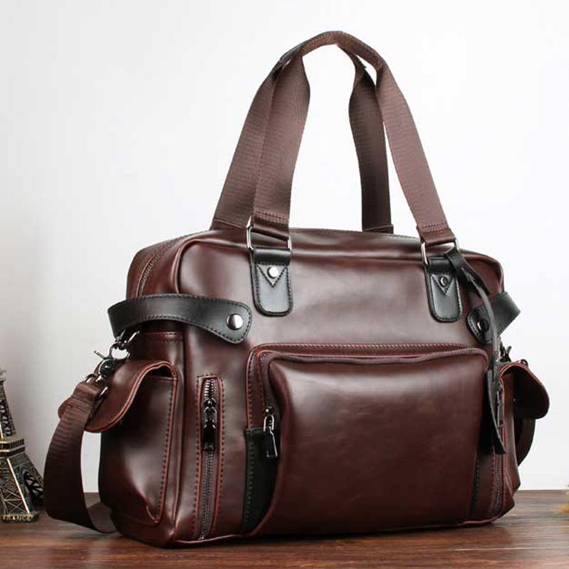 Designer Men's Briefcase Vintage Handbag Crazy horse Leather Large Messenger Bags Business Coffee Laptop Crossbody Bag XA186ZC Q0112