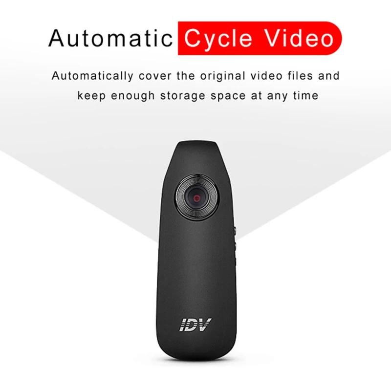 Nuevo 1 UNIDS Professional HD 1080P 130 grados Mini videocámara Detección de movimiento Dash Cam Police Cuerpo Motocicleta Bicicleta Cámara de movimiento