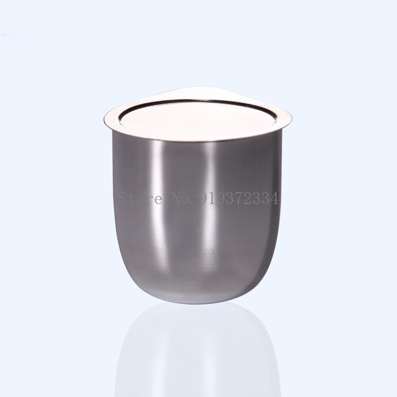 1pcs 30ml 50 ml crisol de plata con cubierta, suministros experimentales, crisol de plata con 99.99% de contenido