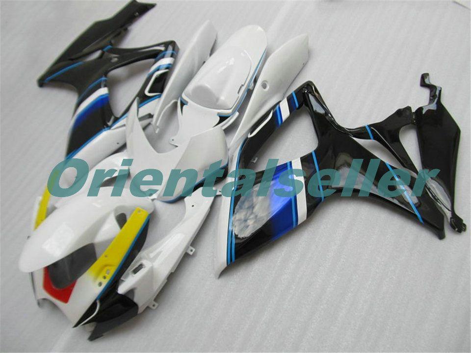 Cuerpo para SUZUKI GSX R600 GSXR750 GSXR600 GSXR600 06-07 GSX R750 GSXR 600 750 2006 2007 K6 GSXR750 carenado kit Nueva fábrica YELL AD162 negro