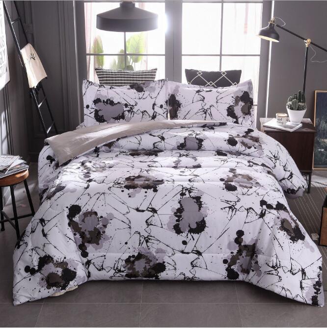 Sıçrama mürekkep boyama baskılı setleri konfor yorgan 3 pics nevresim yüksek kaliteli suits yatak malzemeleri ev tekstili
