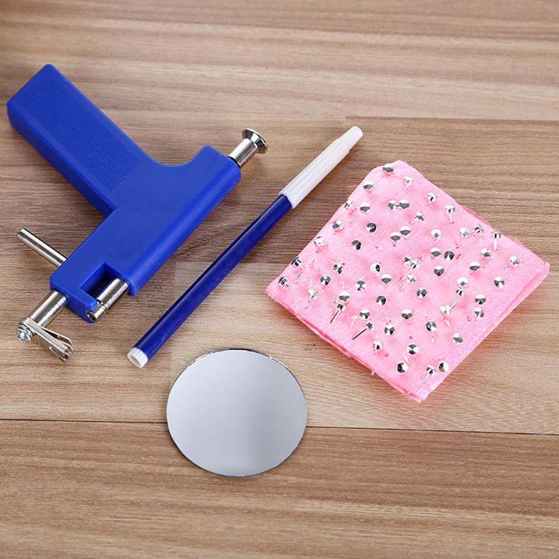 Professionelle Frauen Männer Ohr-Piercing Gun Ohrstecker Nasen-Nabel-Körper Painless Piercer Einheit Safety Tools Kit