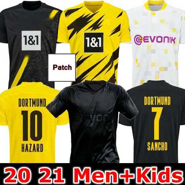 Adam + Çocuklar 19 20 21 Dortmund Borussia Reus Guerreiro Formalar Futbol 2019 2020 Blackout Sancho Hummels Haaland Spor Gömlek 2020 Brandt