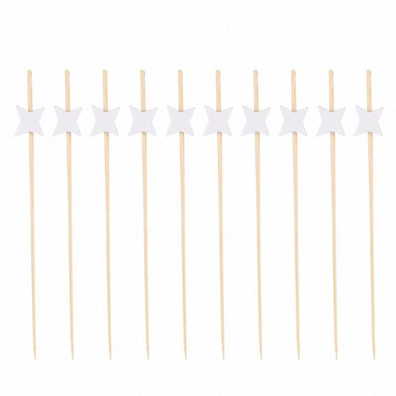 200pcs Meyve Tek Seçim Sticks Seçtikleri El Yapımı Doğal Bambu Kokteyl Çubukları Pasta Tatlı Kürdan Parti Malzemeleri (W gQsM #