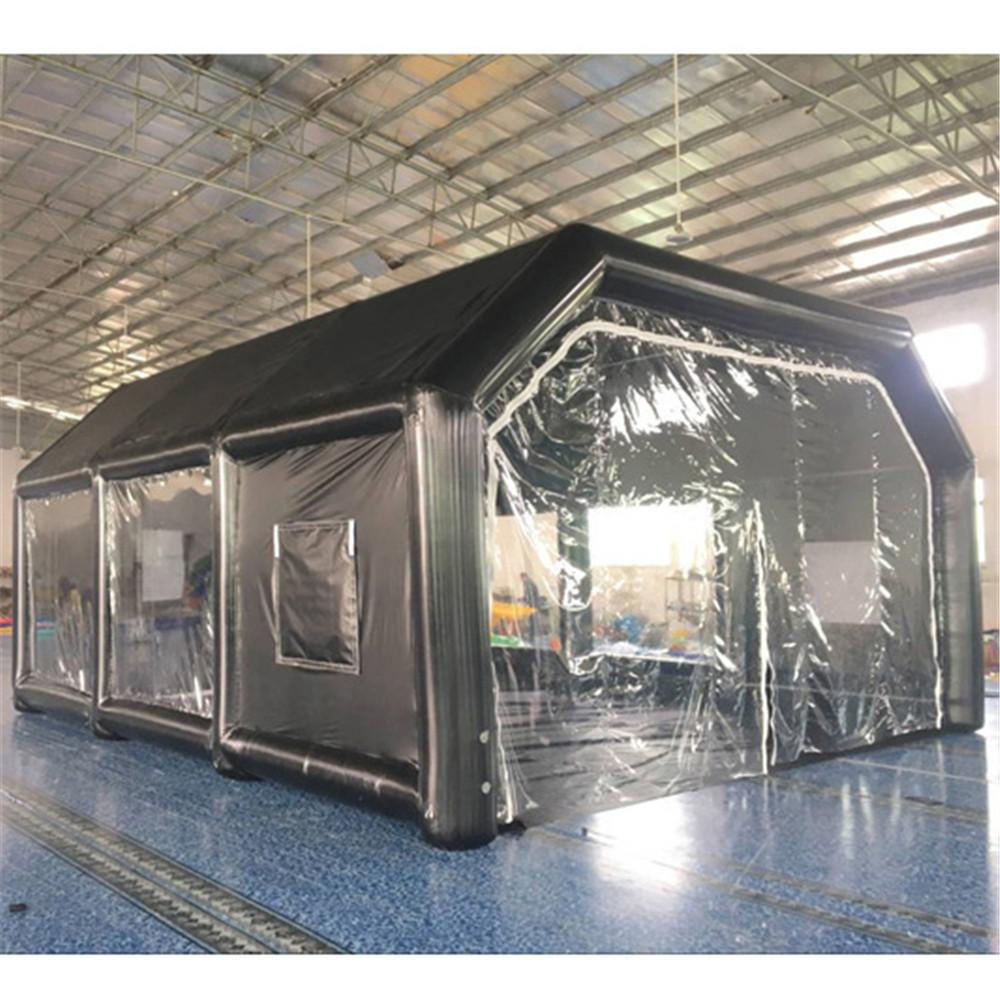 8x6x3.5m Giant Oxford Inflatable Spray Booth Car Painting Garage Repair Working Station with Filter System And Blowers