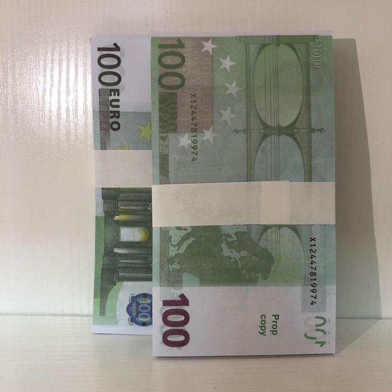 Papel Euro Nksam Billet falsificación TICKET EURO TICKET Faux Nuevos accesorios Prop Thin Children Magic Gift LE100-19 Toy 100 Money FPGIF