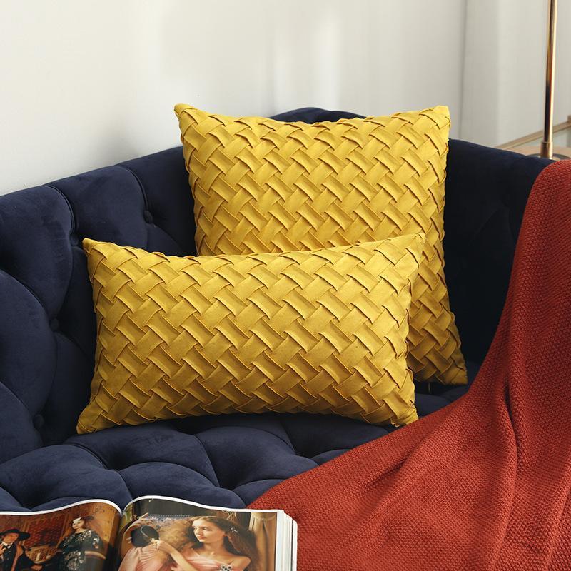 Cilected Yeni Elle Dokuma Süet Yastık Kapak Çok renkli Yastık Kapak Modern Yastık Dekoratif İçin Koltuk 30 * 50cm / 45 * 45cm 1pc Kapaklar