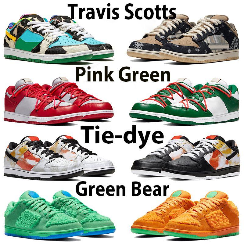 Travis Scotts Chunky Low Herrenschuhe Panda Chicago Kiefer Grün Orange Sean Shadow University Rot Gold Tie-Farbstoff Pflaume Brasilien Basketball Sneakers