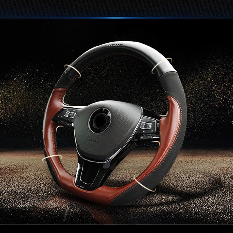 38 см Специальное ручное ручное рулевое колесо ручки автомобиля крышка для Volkswagen Teramont Phideon Tiguan Lamando Modification