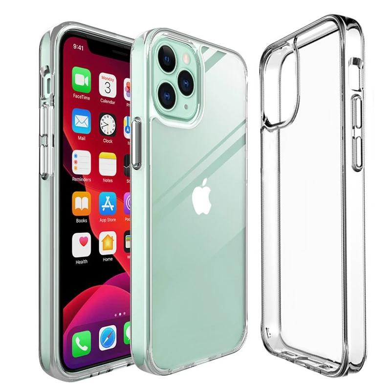 Clear Case TPU pour iPhone 12 PRO MAX 11 8 Plus XS XR Transparent antichocs Cases Couverture souple