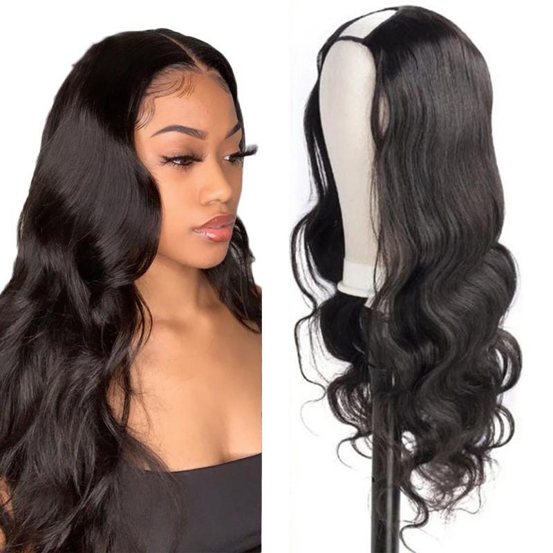 البرازيلي موجة الجسم يو جزء الباروكات الشعر البشري للنساء آلة جعل U جزء الجسم موجة الباروكة