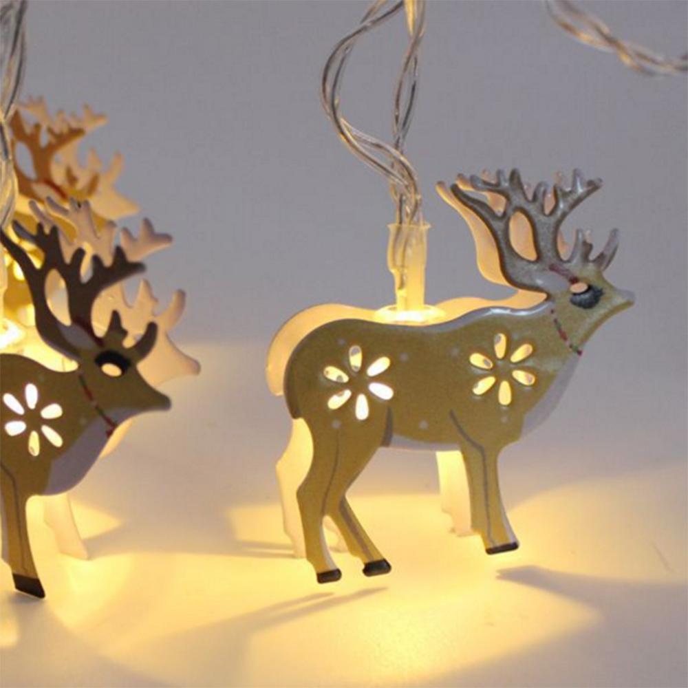 크리스마스 라이트 문자열 LED 배터리 라이트 문자열 휴일 조명 장식 조명 문자열 - 테라스 울타리 나무 가든 파티 웨딩 사슴