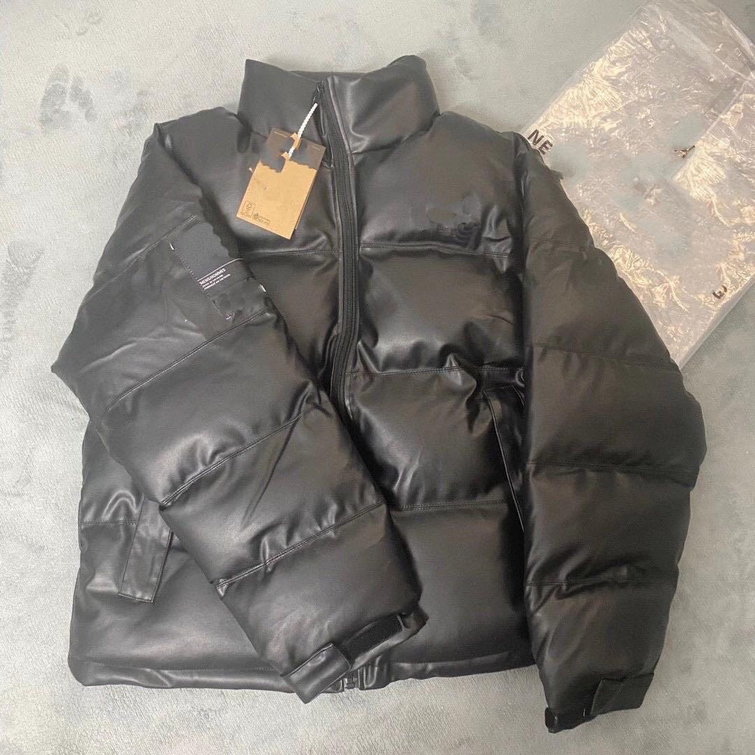20FW Kadın Pamuk Maliyet Sonbahar ve Kış Yeni Aşağı Pamuk Deri Kaban Aşıklar Ekmek Coat Moda Yüksek Kalite Erkekler Ceket Boyutu M-XL