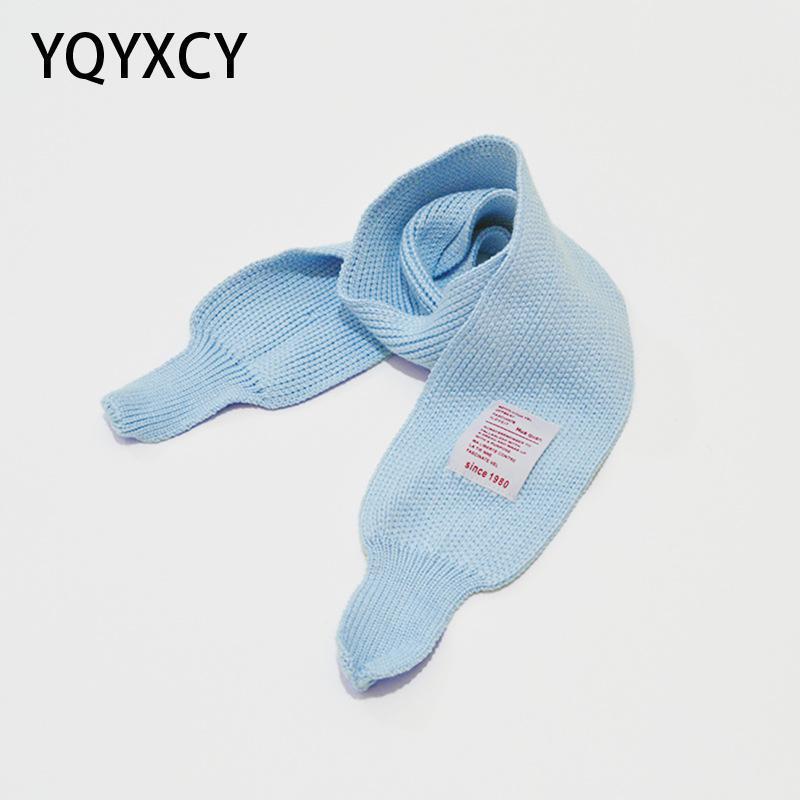 Szaliki Yqyxcy Szalik Dzieci Jesień Zima Dzianie Dla Dziewczyn Chłopcy Dzieci Baby Cute Candy Color Fashion Ciepłe Casual