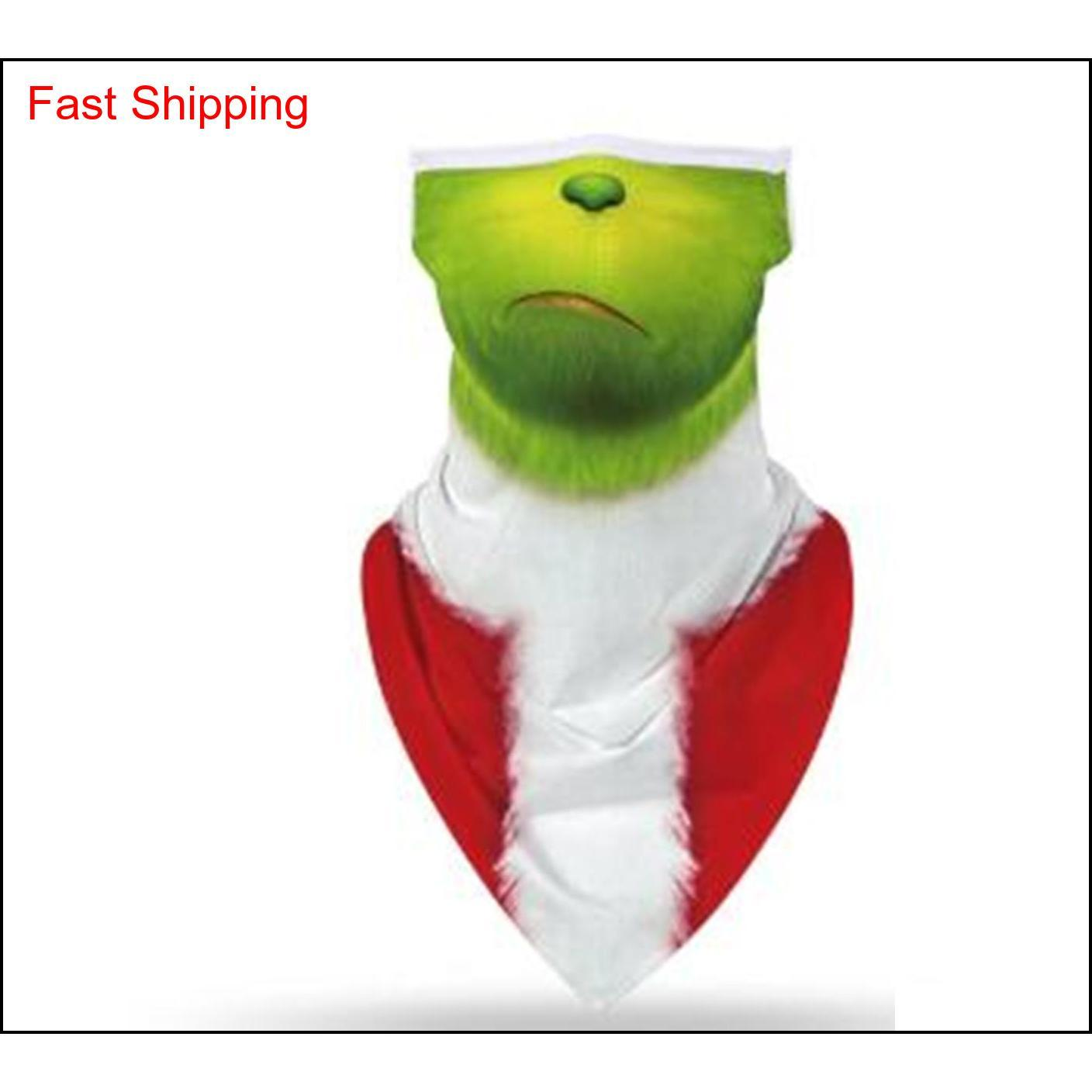 How The Grinch Stole Christmas Snowman Motorcycle Cycling Neck Scarf Masks Bandana Headband C qylhKM bdehome