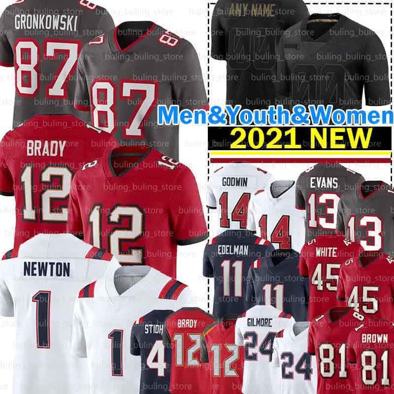 12 Tom Brady Jerseys 1 كام نيوتن 81 أنطونيو براون 87 روب جرونكوفسكي مايك إيفانز جوليان إدلمان كريس جودوين ستيفن جيلمور سوني ميشيل