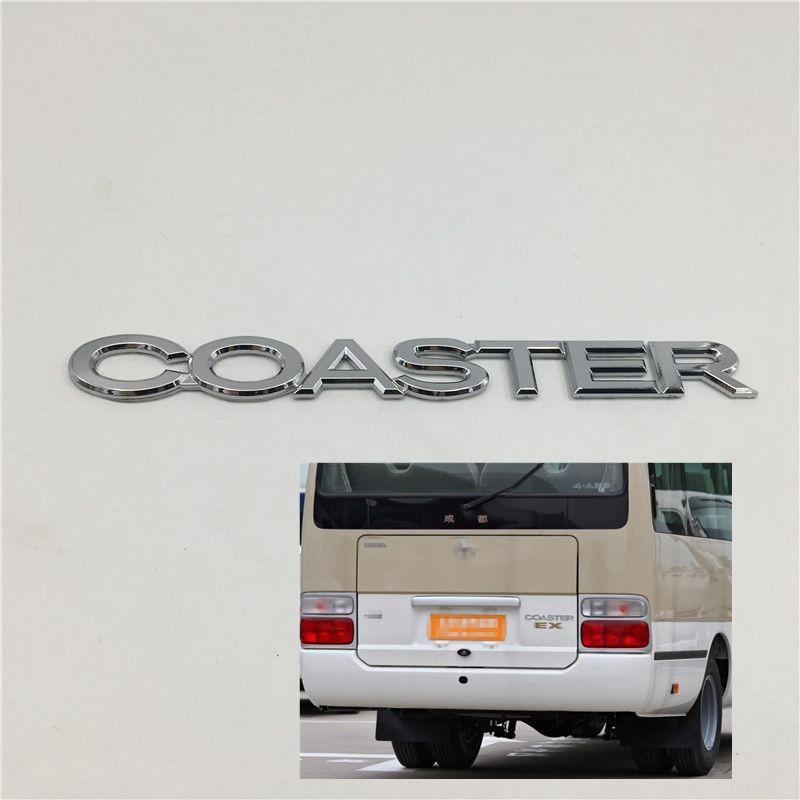 Para Toyota Coaster Emblem Tronco Tronco Logotipo Pegatinas de insignia