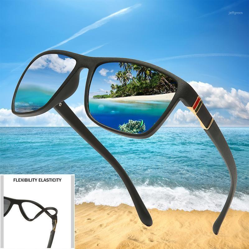 TR90 Polaroid Солнцезащитные очки Квадратный Гибкий Вождение Резиновые Квадратные Солнцезащитные Очки Мужчины Поляризованные Солглазы Для Женщин MEN1