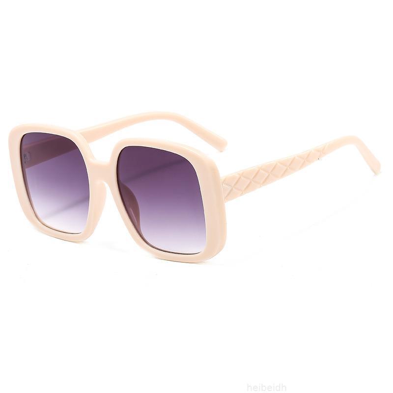 ПК мода женская коробка солнцезащитные очки Новая улица фото Большая рамка шоу тонкие очки