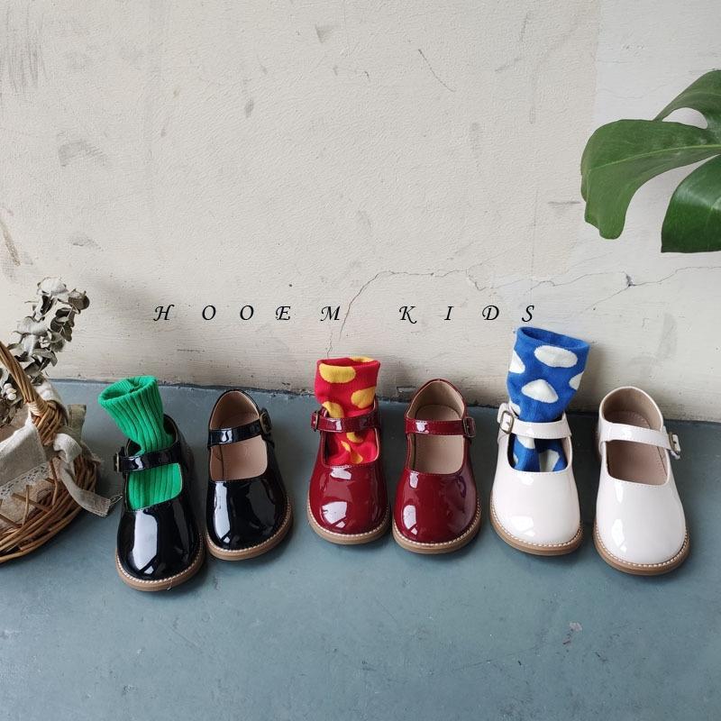 NYNw3 Kinder Herbst 2020 neue koreanische Kinder Leder einzelne Schuhe Mädchen Mode-Schuhe