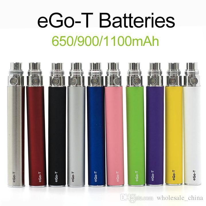 EGO-T Pil EGO T Piller Fit 510 Konu Atomizer Clearomizer Buharlaştırıcı CE4 CE5 650/900 / 1100mAh Stokta Hızlı Gemi