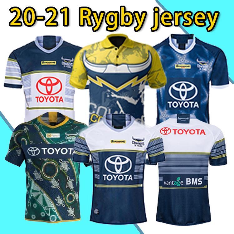 S-5xl North Queensland Cowboys Rugby Jersey North Queensland Cowboys 2020 Men's Indígenas Jersey Camisa Austrália Nrl Telstra