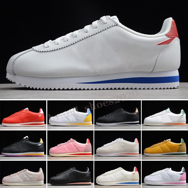 Classic Cortez Leather Zapatos casuales hombres mujeres Noticias básicas 2019 Denim Kenny IV II OG Cuero Forrest Gump Hombre Mujer Top Qaulity Wholesale Zapatos de moda
