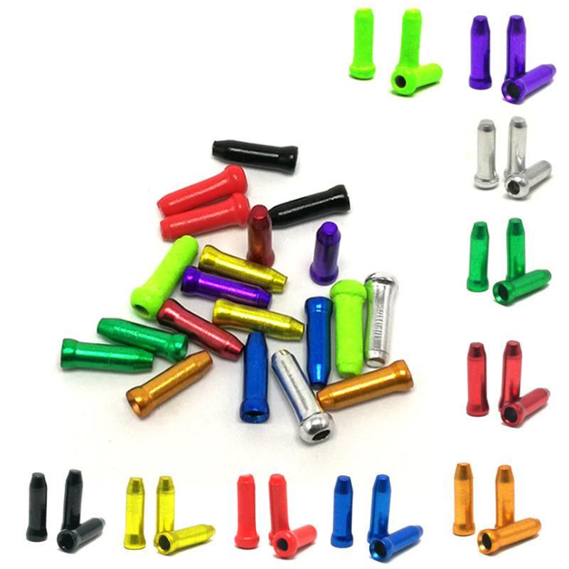 50 partes / lote freno de bicicleta cable de aluminio varilla VTT recomienda piezas de bicicleta de circulación descarrilador bloqueo cable de repuesto