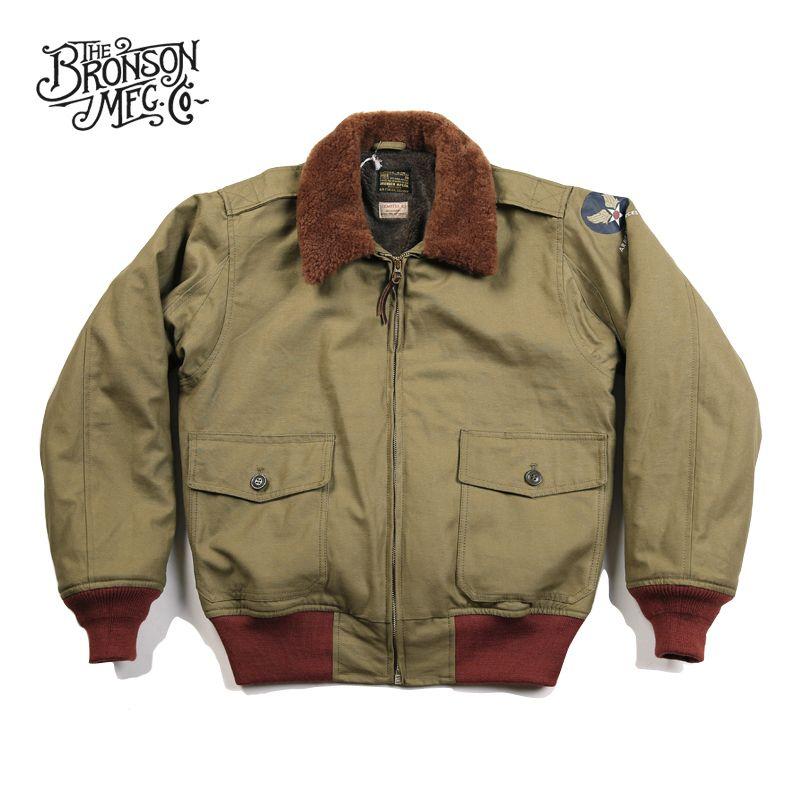 Hombres de Bronson Usaaf B10 Vuelo 1943 Modelo B10 Flying Intermedio capa de la chaqueta de bombardero de la vendimia