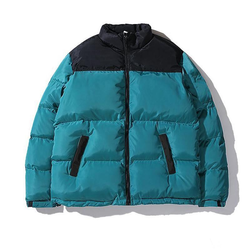 Mens Down Parka Outwear Jaqueta Bordado Casal Rua Quente Simples Inverno Moda Ao Ar Livre Algodão Acolchoado Casaco