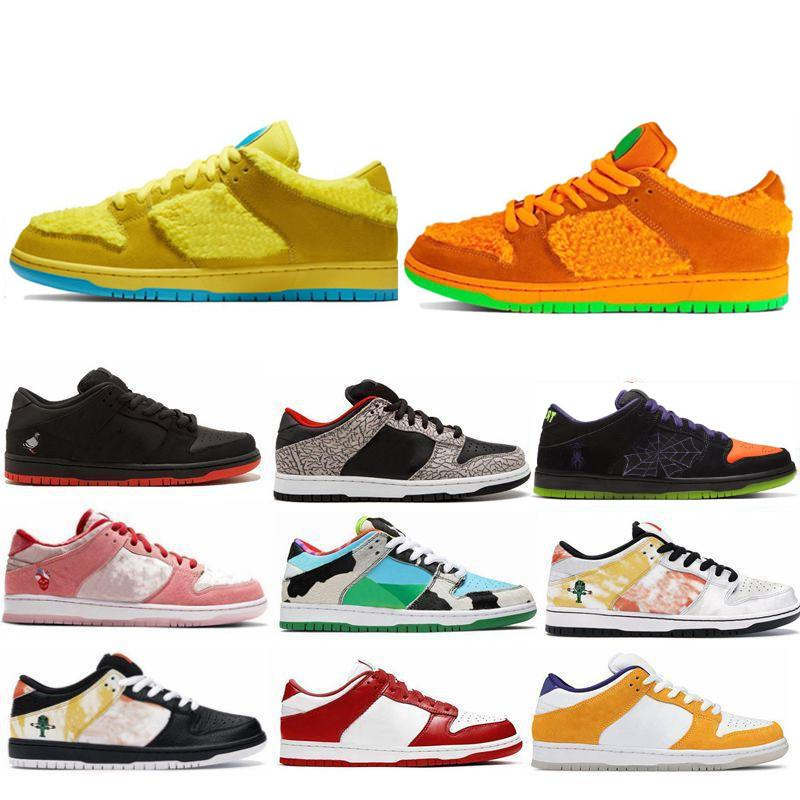 Vendendo o que o Dunky Low Pro Qs Chunky Dunky Freddy Krueger Homens Mulheres Running Shoes Paris Strangelove Muslin Skate Sports Sneakers