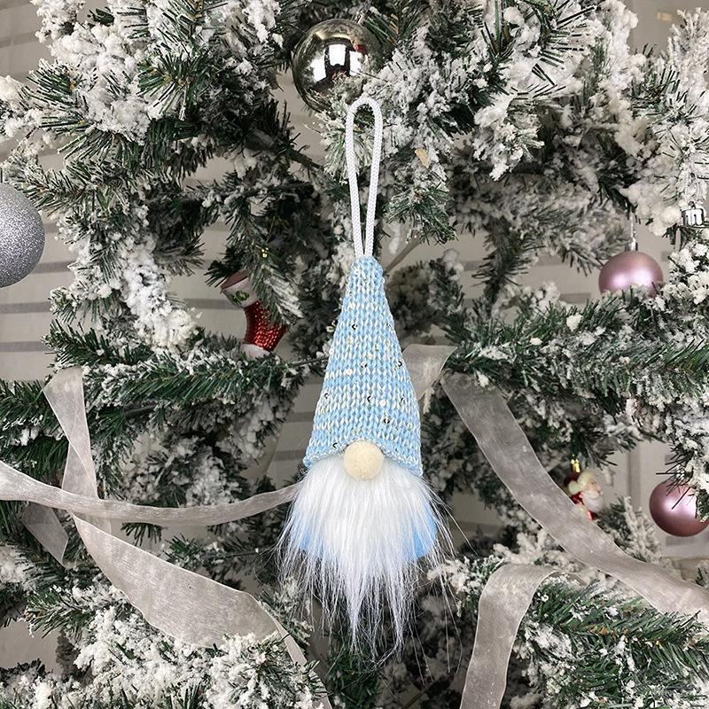 Weihnachten handgemachte schwedische Gnome skandinavisch Tomte Santa Nisse Nordic Plüsch Elf Spielzeug Tisch Ornament Weihnachtsbaum Dekorationen 02