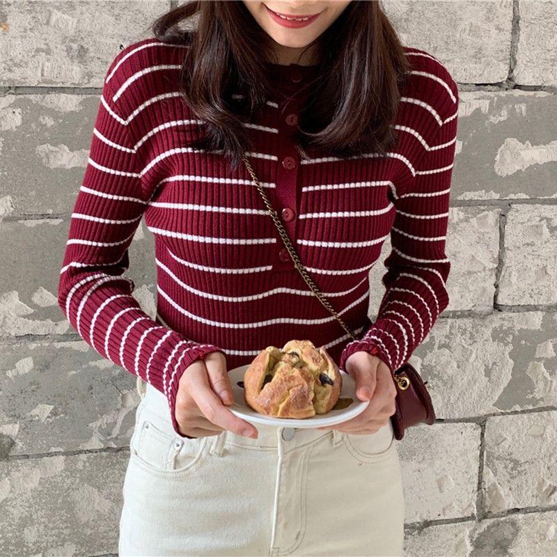 1U2db пуловер пуловер осень верхней одежды pulloverNew Корейского стиль мода рукав тонкого пассив pulloverCoat 2020 свитера вокруг шеи длинных ул
