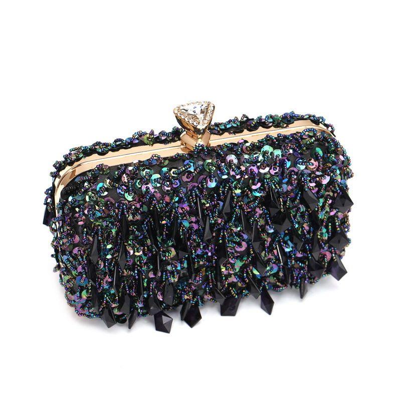 Çanta Çanta Sequi Kristal Kadınlar Için Sparkly Elmas RNDA Rhinestone Omuz Akşam Çanta Parti 2021 Parlak Debriyaj Luxurys Designer CTFDS