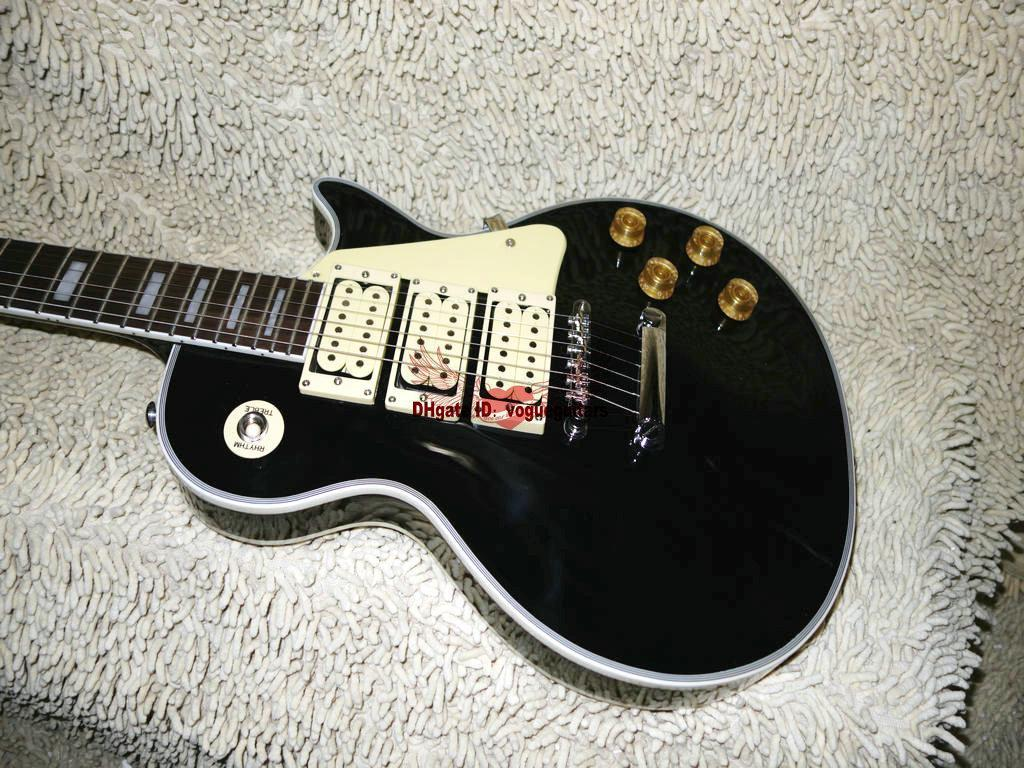 Best High Quality Custom Ace Frehley Electric Guitar Black New Arrival Oem Available