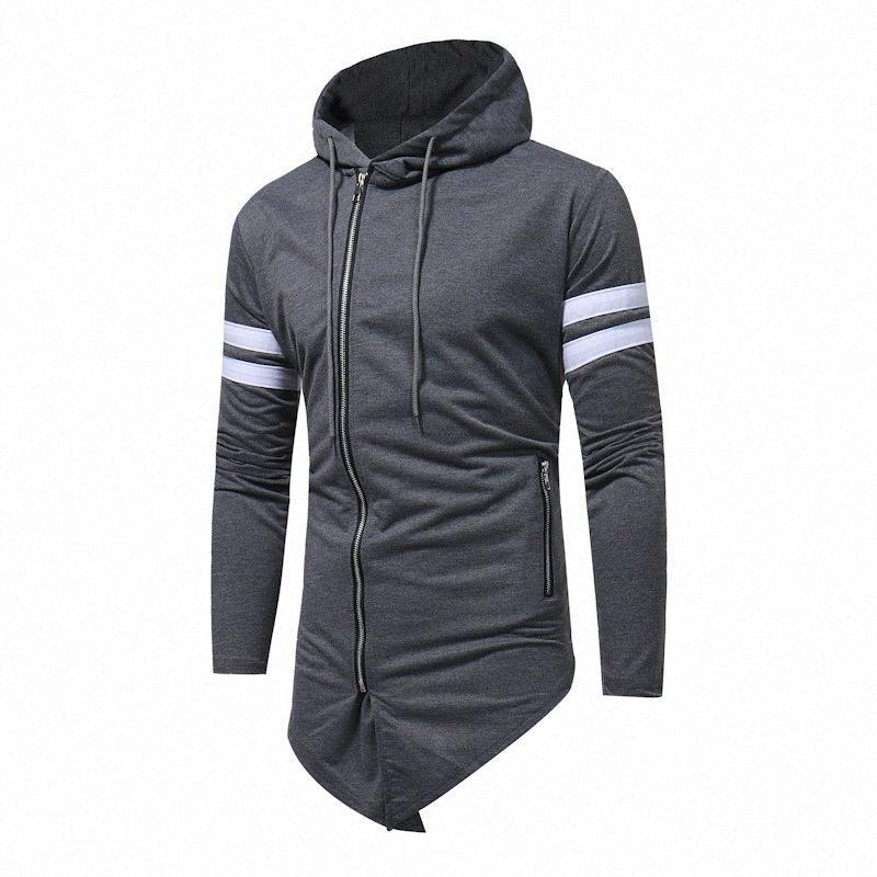 Otoño hoodies ocasionales Streetwears los hombres de la calle ropa de rayas sombreros larga de los hombres de moda del estilo británico vestido Hoodeds Hombre DLST #