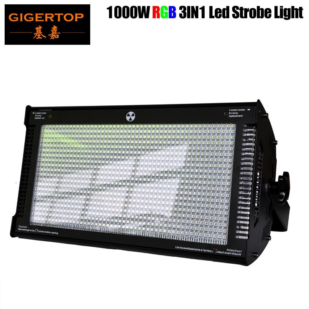 1000 W RGB Sahne LED Strobe Işık TRI Renk Karıştırma Yüksek Güç Kulübü Flaş Işığı DMX512 Kontrol 3PIN / 5pin Soket