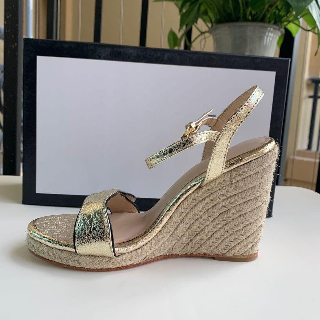 Hot venda Feminino chinelos Lady Escritório Bombas Moda salto alto mulheres sandálias Genuine couro do verão Voltar Strap sandálias vestido calça o tamanho 35-41