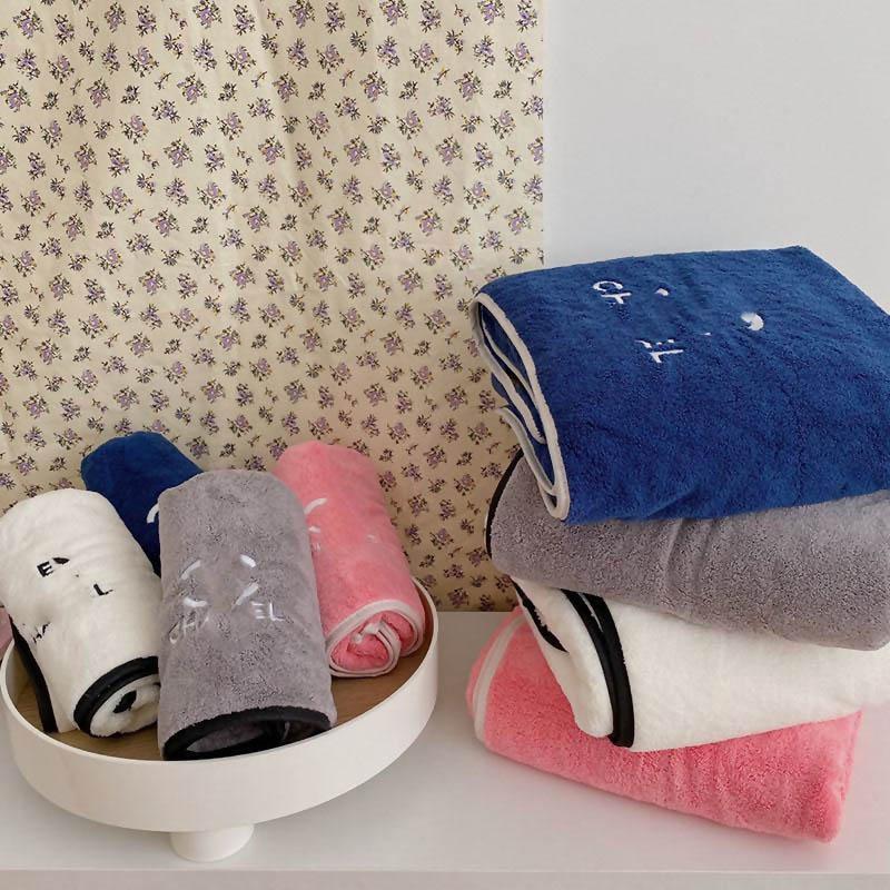 Sıcak Satış Yaratıcı Nakış Havlular Ins Stil Emici Pamuk Banyo Havlusu 4 Renkler Kalınlaşmak Desen Otel Havlu Ücretsiz Kargo