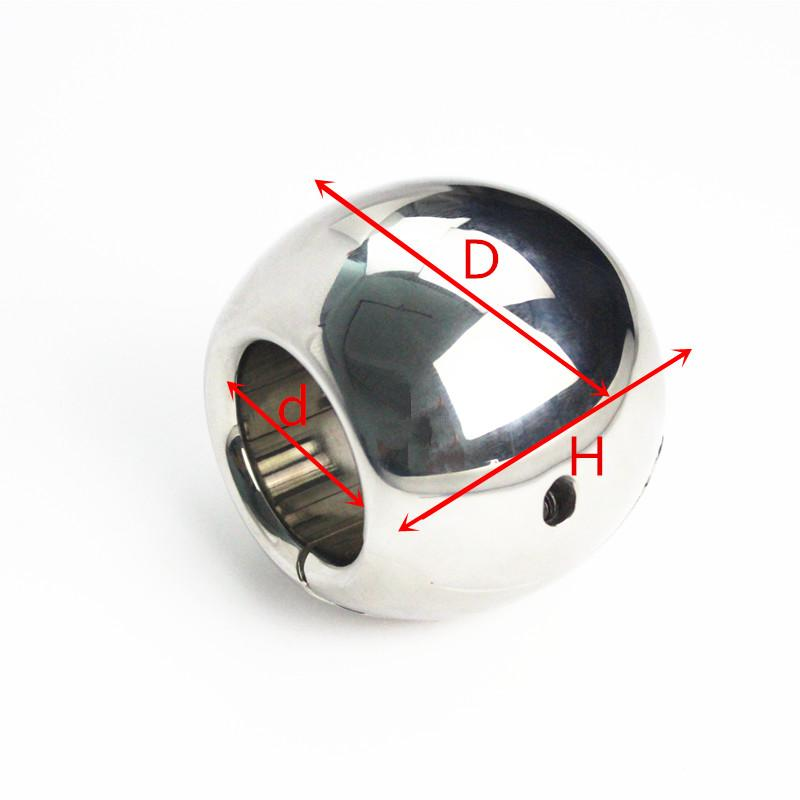 5 Sizes Stainless Steel Testicle Balls Scrotal Pendant Stretchers Cockrings Scrotum Load-Bearing Penis Bondage Toys for Men BB2-401