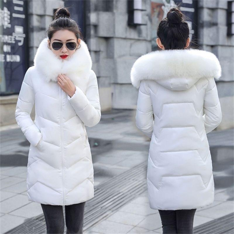 New Parka Womens Winter Coats Womans Plus size 7XL Long Cotton Casual Fur Hooded Jackets Warm Parkas Female Overcoat Coat Y201001
