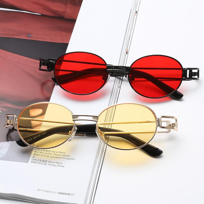 2020 Vintage personnalisé Round cadre des lunettes de soleil mode All-match de l'épreuve UV Lunettes UV400 Oculos De Sol