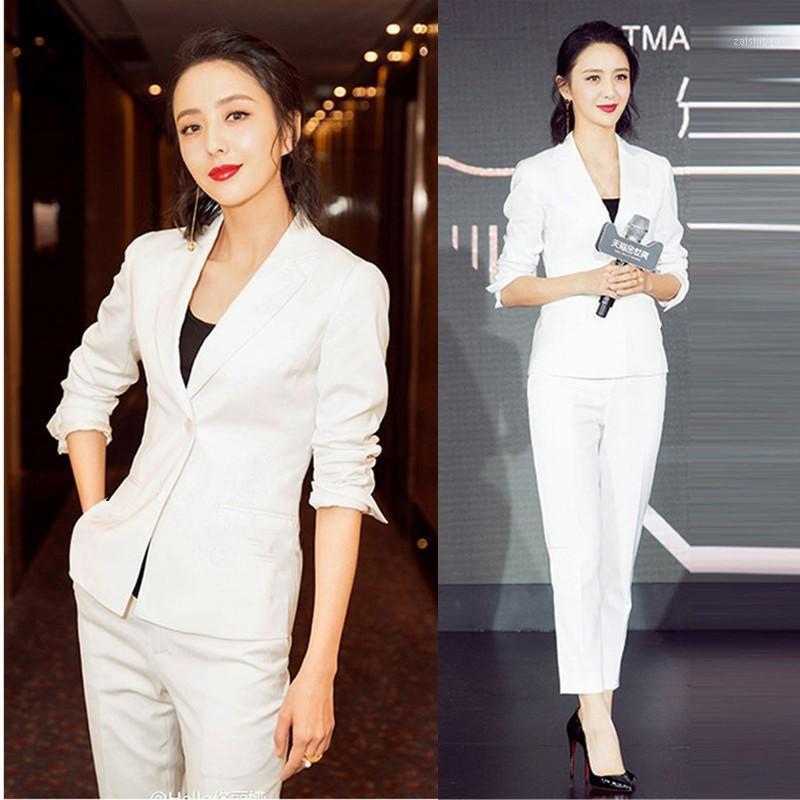 Wit Pak Pak Vrouwelijke en Najaar Modo Nieuwe Mode Hoge Kwaliteit Geur Business Professional Wear Vrouwen Outfits1